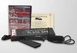 Jim West Black Ops Knife + Fight To Win DVD Package, Jim West